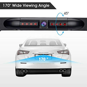 (30% OFF)License plate frame 170 degree Angle rear view camera