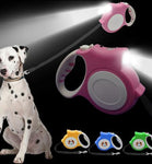 5M Retractable Dog Leash With Bright Flashlight dog Walking For Small-Medium Dogs Up to 60lbs