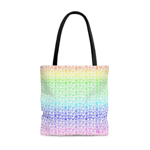 Love You So Much Rainbow Tote Bag