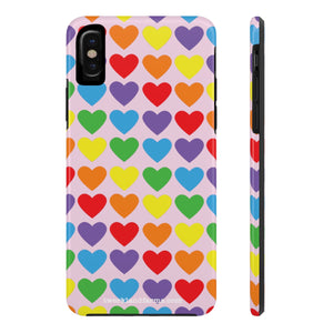 Rainbow Hearts Phone Case