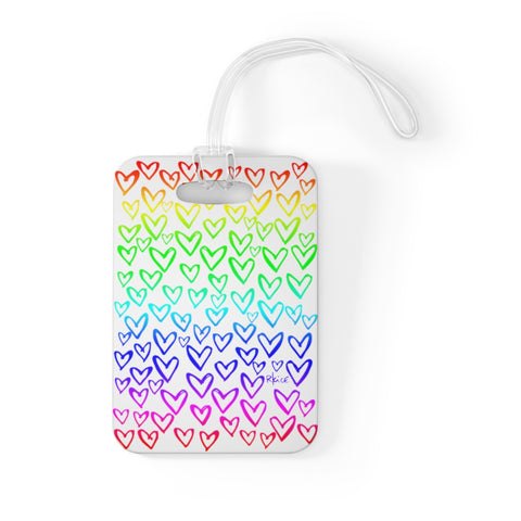 Sketchy Heart Rainbow Bag Tag