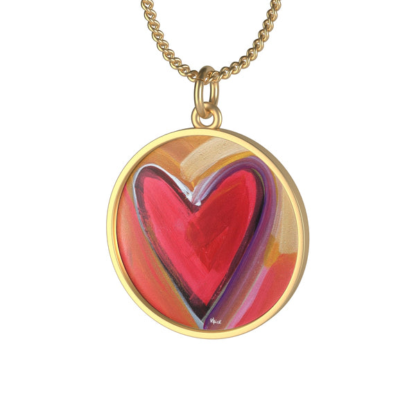 Heart Painting Necklace