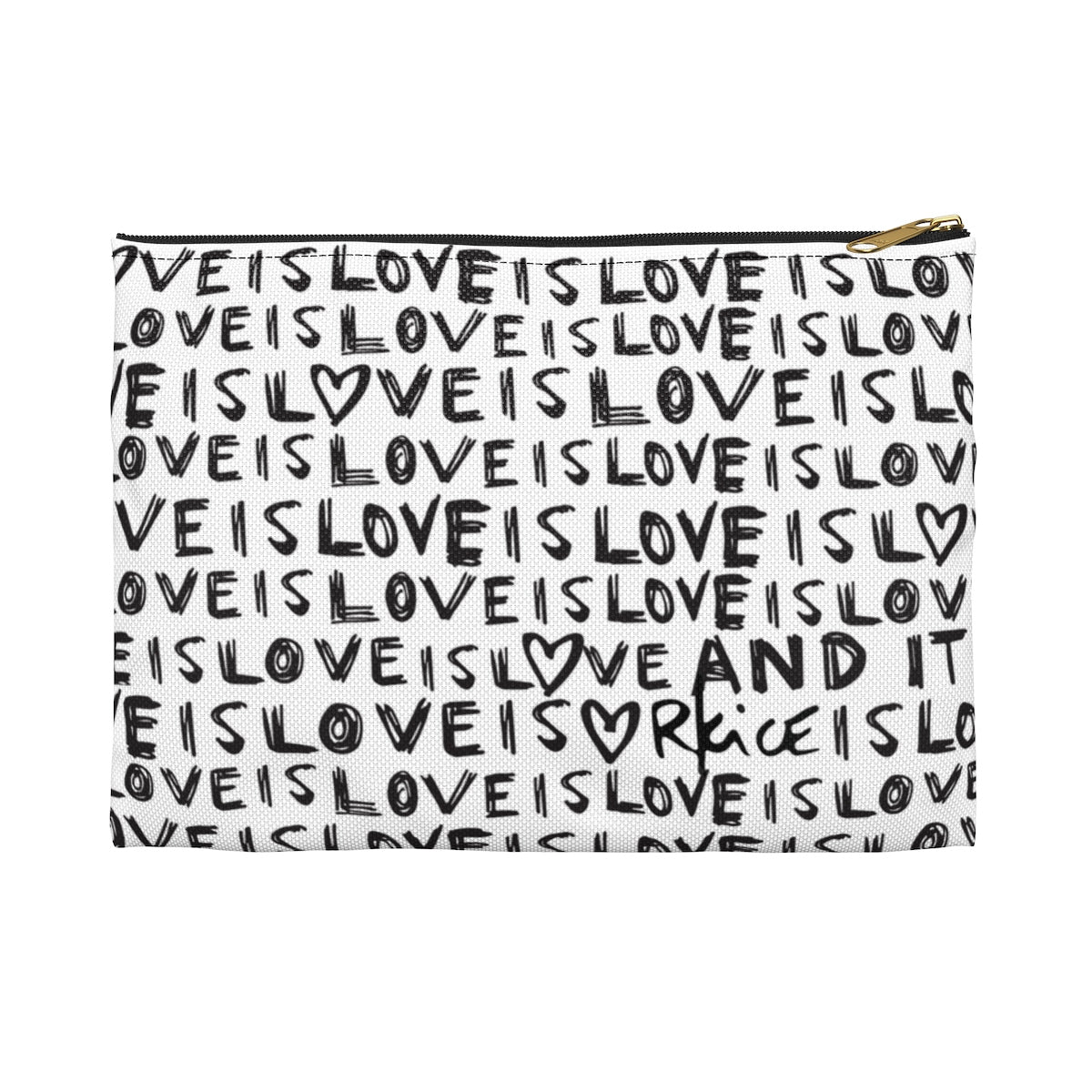 Love Is Love B&W Accessory Pouch