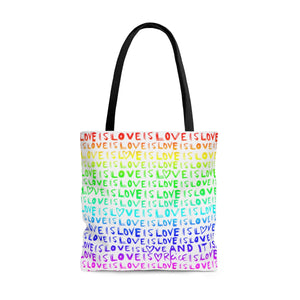 Love Is Love Rainbow Tote Bag
