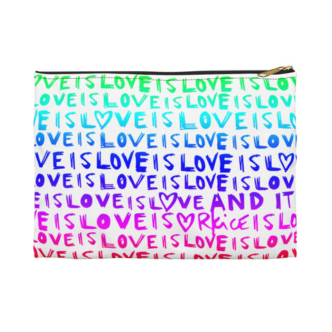 Love Is Love Rainbow Accessory Pouch