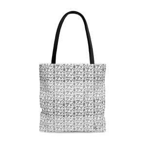 Love You So Much B&W Tote Bag