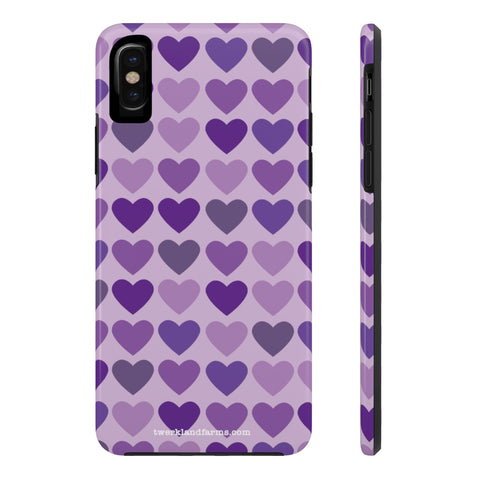 Shades of Purple Hearts Phone Case