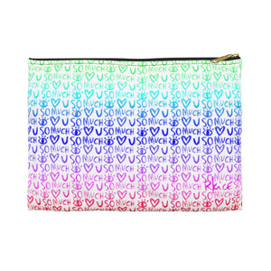 Love You So Much Rainbow Accessory Pouch