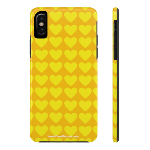 Yellow Gold Hearts Phone Case