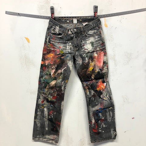 Painted Artist Pants - Lucky