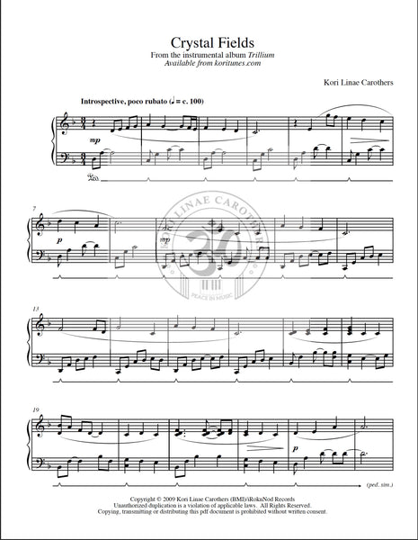 Crystal Fields Sheet music from Trillium