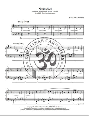 Nantucket Sheet Music from Trillium