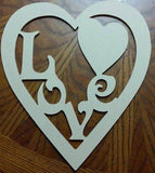You and Me,Love heart DIY cutout,Wood Diy shape, Craft shape, Heart shape, Valentines Day DIY,Anniversary Decor,Wood craft shape,DIY shape
