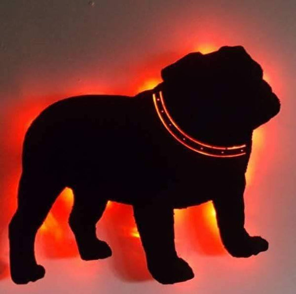 Custom Dog silhouette Lighted Sign - Breed of your choice-Name optional