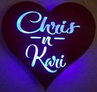 Heart, lighted Name Sign, LED Lighted, Wedding Decor, anniversary , Wife, Husband, Valentines day decor, Love Heart, Forever, Your Mine,