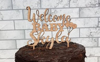 Welcome Baby, cake topper,Balloons Birthday Topper,Baby First day, Baby topper, Baby Reveal,baby cake topper,baby shower,baby shower cake