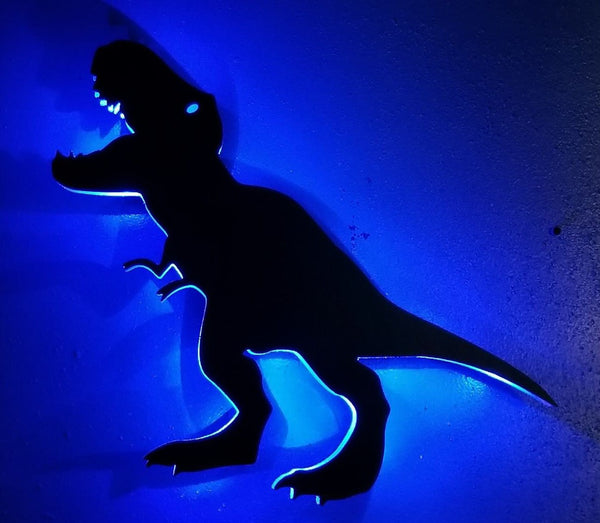 Dinosaur LED Sign, T-Rex Dinosaur,  Dinosaur Gift, Dinosaur Party, T-Rex Decor, T-rex art,T-rex Night light,T-rex Light,Custom Dinosaur sign