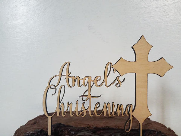Christening cake topper, Christening cake topper boy, christening cake topper girl, religious cross with name, Custom cake topper Cross