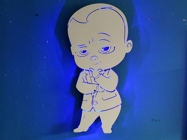 Baby Boss, Night light, Kids baby Boss, Baby Boss wall Sign,  Cartoon Wall Sign, tim templeton sign, Boss baby Light, Kids boss baby decor