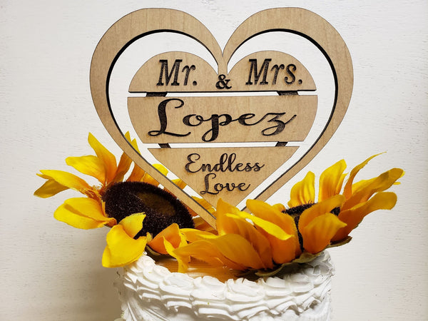 Double Heart wedding, anniversary , special day, cake topper, Laser engraved topper, Unique Cake topper, Wedding topper, anniversary cake