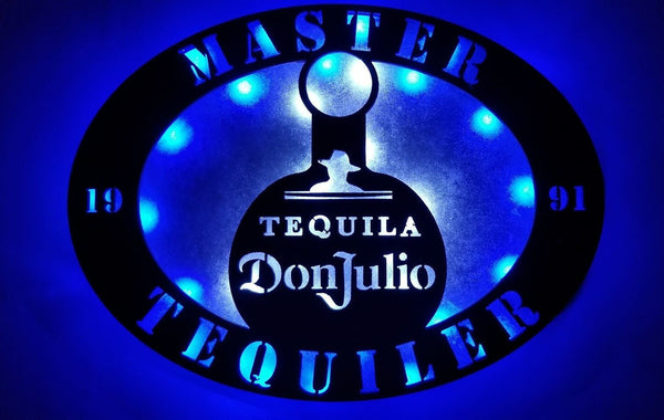 Tequila Personalized LED  sign,Don Julio bar sign,Tequila man cave sign,Tequila wall decor,Tequila light, Don Julio Custom sign,Liquor sign