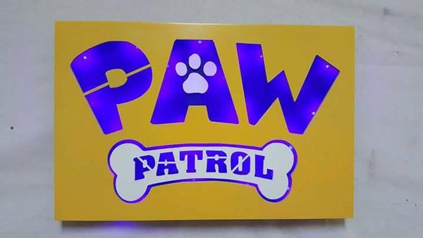 Paw patrol 3D Lighted Sign, Six Rescue Dogs, Pup Tales, Ryder, Paw Patrol Decor