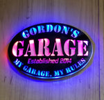 My Garage my rules man cave  Personalized Lighted LED  sign, Man Cave, Garage Sign, gift for him, gift for her,