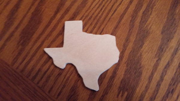 "State of Texas Unfinished Wood - MDF 1/4""   4x4"" piece  pack of 10 Pieces Free shipping, Custom shape, Custom state shape, Custom Cutout"