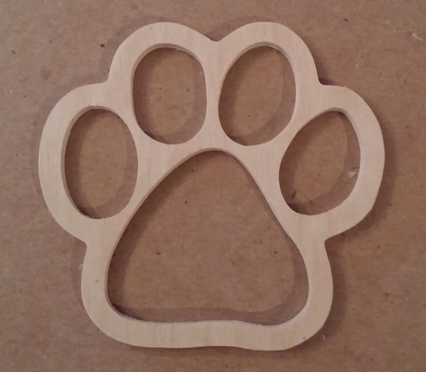 Paw Print shape, Unfinished paw craft , Paw print shape, Dog paw print, cat paw print, bear paw print, animal paw print, Custom craft shape