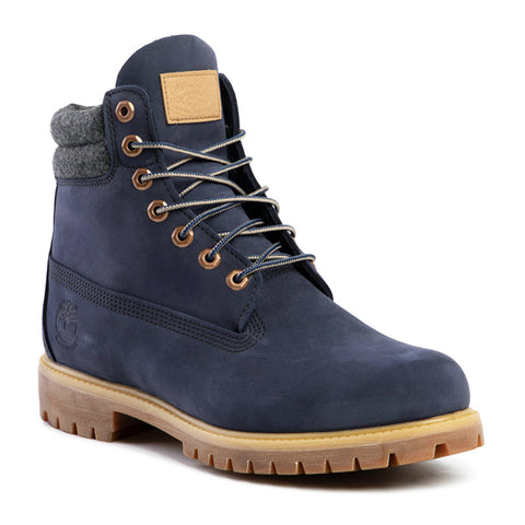 Image of Bottes pour homme Timberland 6 IN DOUBLE COLLAR BOOT Blue marine