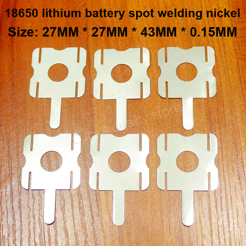 10 pcs/lot 4 S 18650 batterie au Lithium paquet soudable en forme de U feuille de Nickel T6 batterie en acier nickelé plaqué Nickel