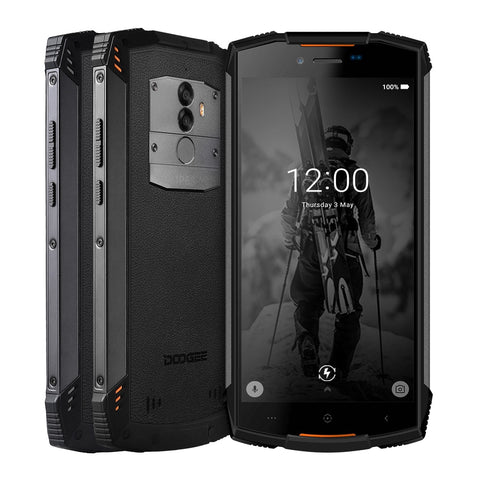 Image of Smartphone Octa Core 4 GB RAM 64 GB ROM 5500 mAh 5.5 pouces Android 8.0 double SIM 13.0MP IP68 DOOGEE S55 extérieur étanche