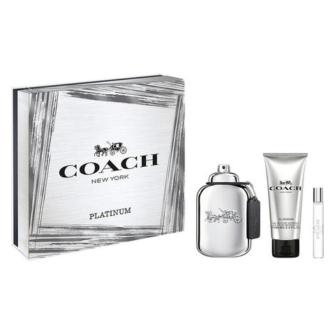 Image of Set de Parfum Femme Platinum Coach EDP (3 pcs)