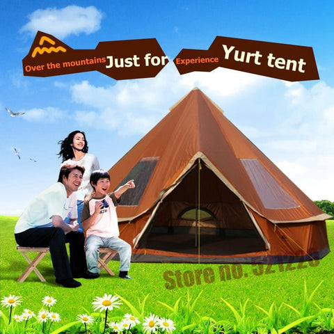 Camping tente 5 6 8 personnes yourte famille abri soleil voyage
