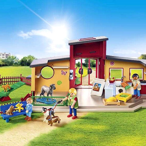 Image of Playset City Life Pets Hotel Playmobil 9275