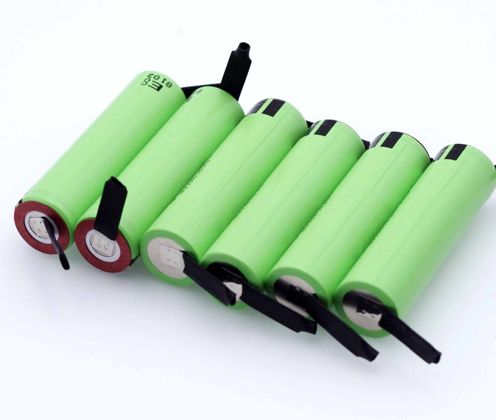 Pile Lithium NCR18650B 3.7 v 3400 mah 18650 Rechargeable soudage Nickel feuille