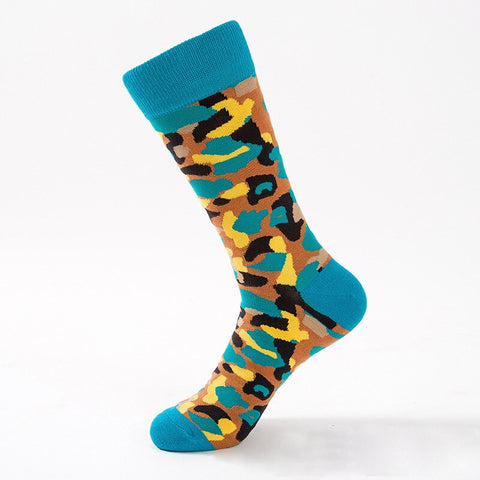 Image of Chaussettes drôles militaire Camouflage 5 paires