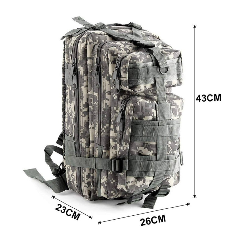 Jungle camouflage Outdoor Military Rucksacks 1000D Nylon 30L Waterproof Tactical backpack Sports Camping Hiking Trekking Fishing Hunting Bags