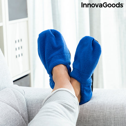 Image of Chaussons Chauffants Micro-ondes InnovaGoods Bleu