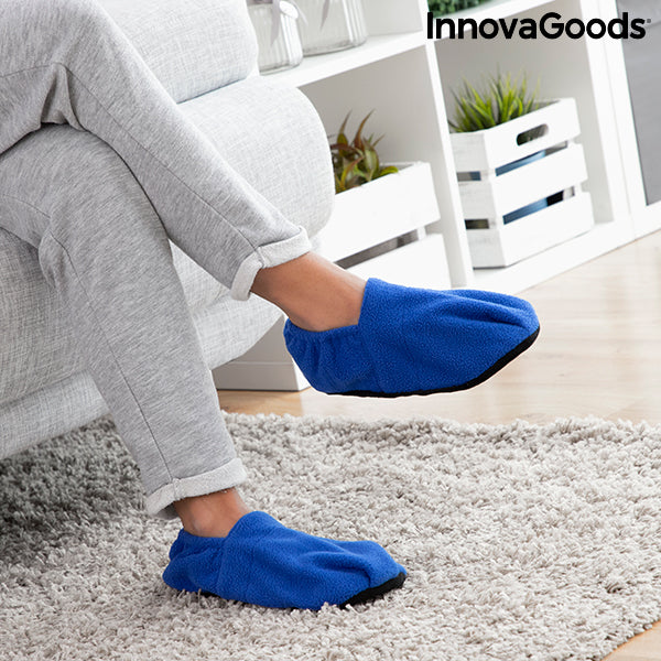 Chaussons Chauffants Micro-ondes InnovaGoods Bleu
