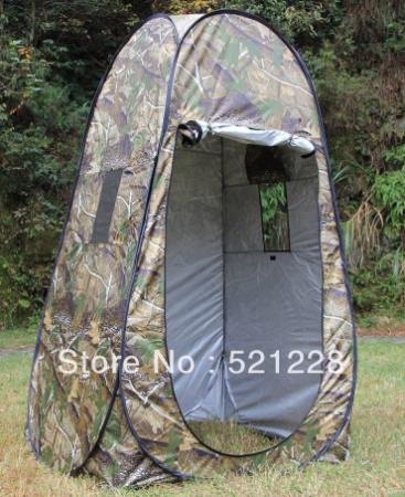Image of Automatique Pop Up bain voiture mobile toilette douche photographie Camouflage vestiaire observation oiseau chasse plein air Camping tente
