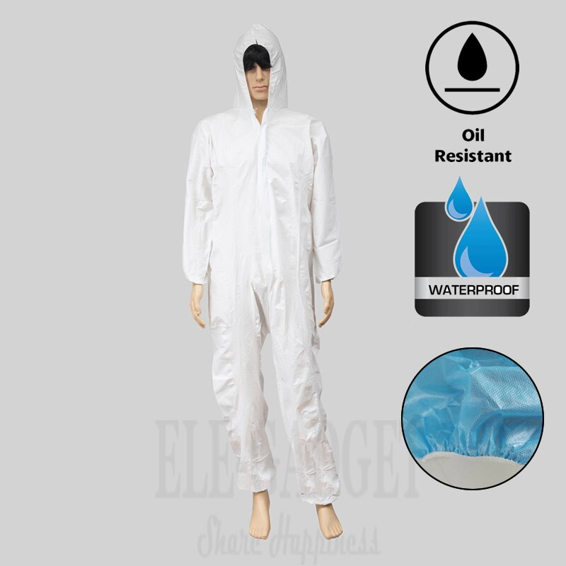 Combinaison de protection jetable imperméable résistant L/XL/XXL/XXXL