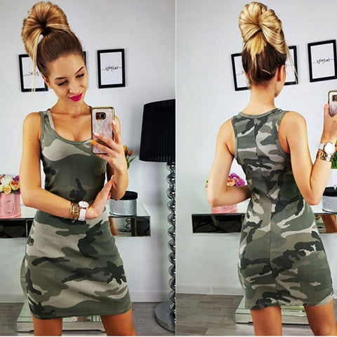 Image of Robe femmes Camouflage militaire