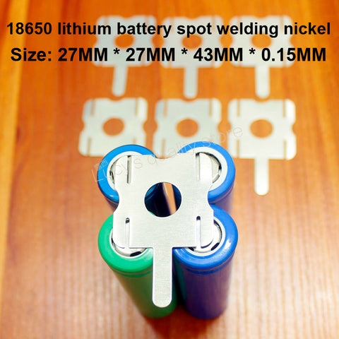 Image of 10 pcs/lot 4 S 18650 batterie au Lithium paquet soudable en forme de U feuille de Nickel T6 batterie en acier nickelé plaqué Nickel