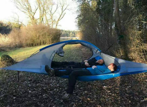 Camping suspendu arbre tente 2 personnes ultraléger Triangle Suspension suspendus