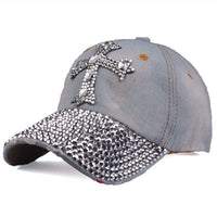 Baseball Cap mit Kreuz aus Strass , colour1