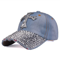 Baseball Cap mit Kreuz aus Strass , colour2