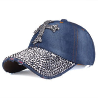 Baseball Cap mit Kreuz aus Strass , colour3