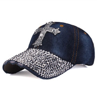 Baseball Cap mit Kreuz aus Strass , colour4