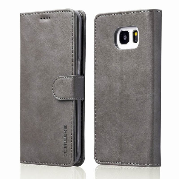 Leder Wallet Flip Case für Samsung Galaxy S7/S7Edge in 5 Farben